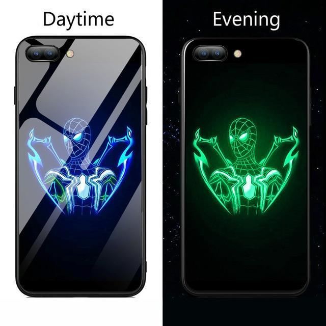 Blue Spiderman Gloss iPhone Case