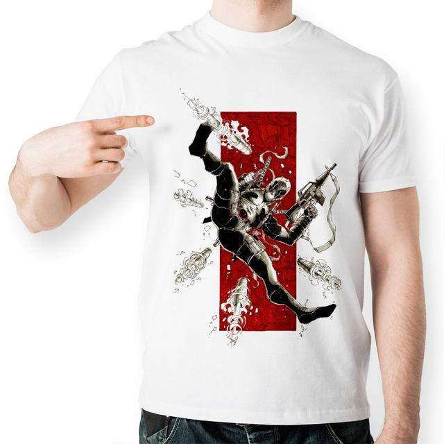 Deadpool Casual Novelty Shirt Collection, Color - Combat
