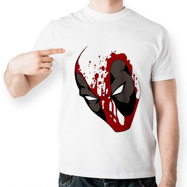 Deadpool Casual Novelty Shirt Collection, Color - Face