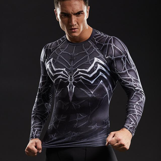 Dark Web Symbiote Long Sleeve Compression Shirt