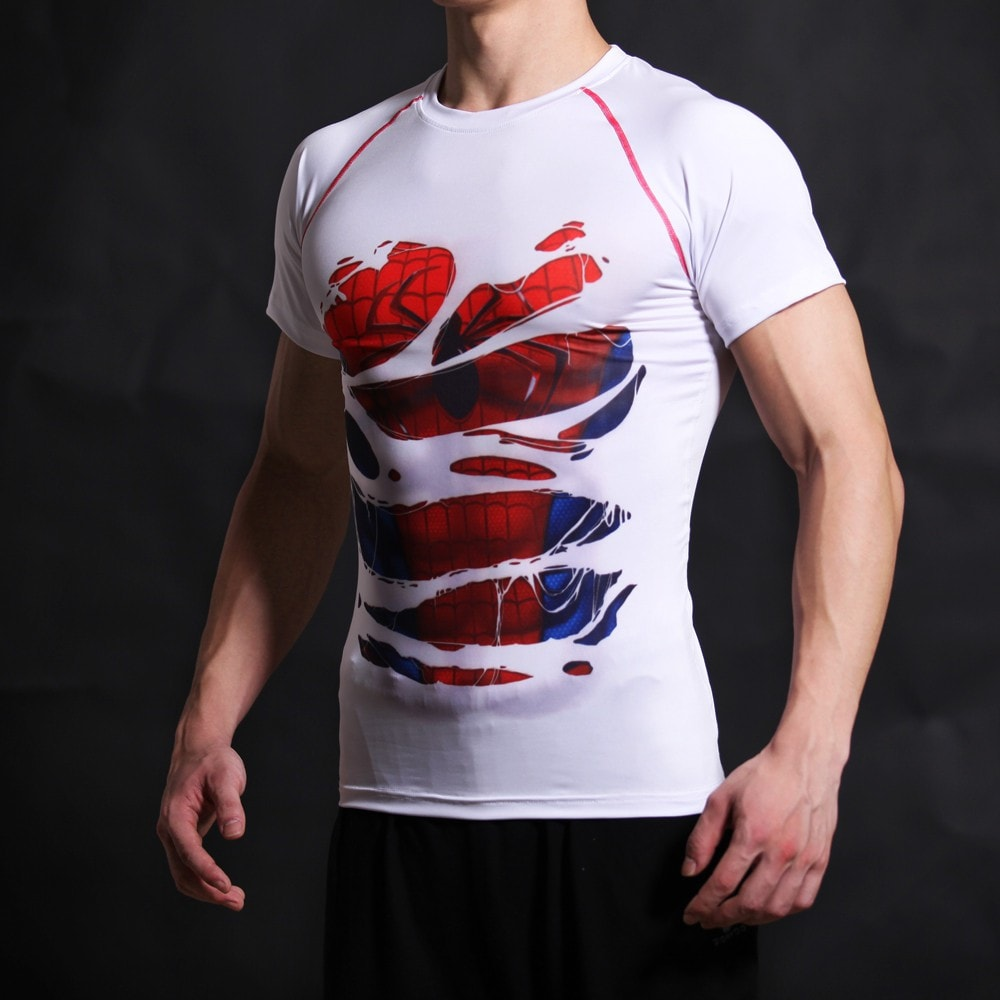 Spiderman Alter Ego White Compression Shirt