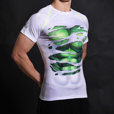 Hulk Alter Ego White Compression Shirt