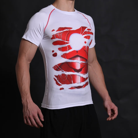 Iron Man Alter Ego White Compression Shirt