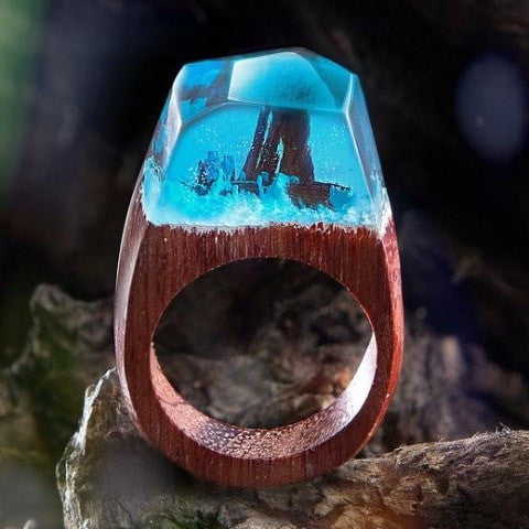 Winter Wonder™️️ Wood Resin Ring