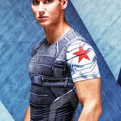 Winter Soldier Short Sleeve Compression Shirt