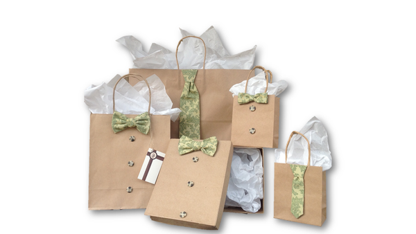 Green Floral Gift Bag Collection