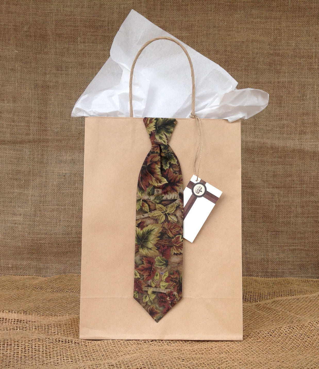 Camouflage Neck Tie Gift Bag