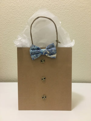 Blue Paisley Gift Bags