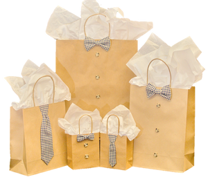Navy Gingham 5 Piece Gift Kit