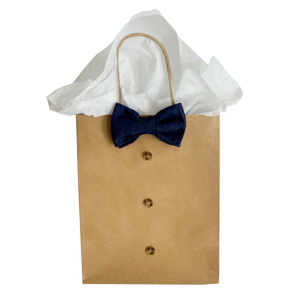 Denim Bowtie  Gift Bag