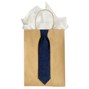 Denim Necktie Gift Bag