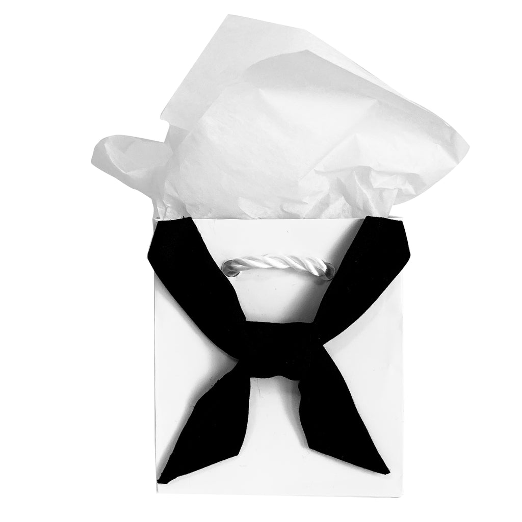 Navy Black And White Gift Bag