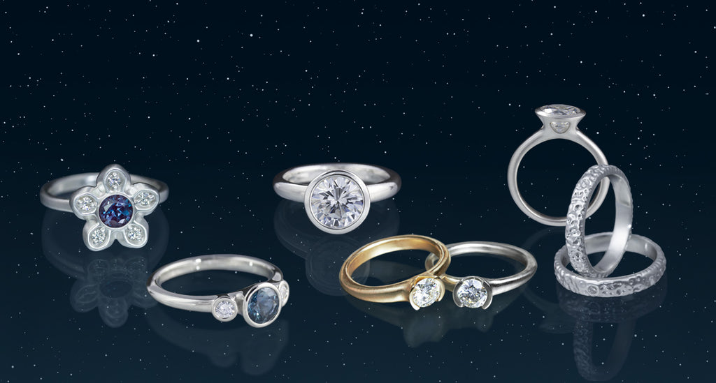 Modern Diamond Engagement Rings