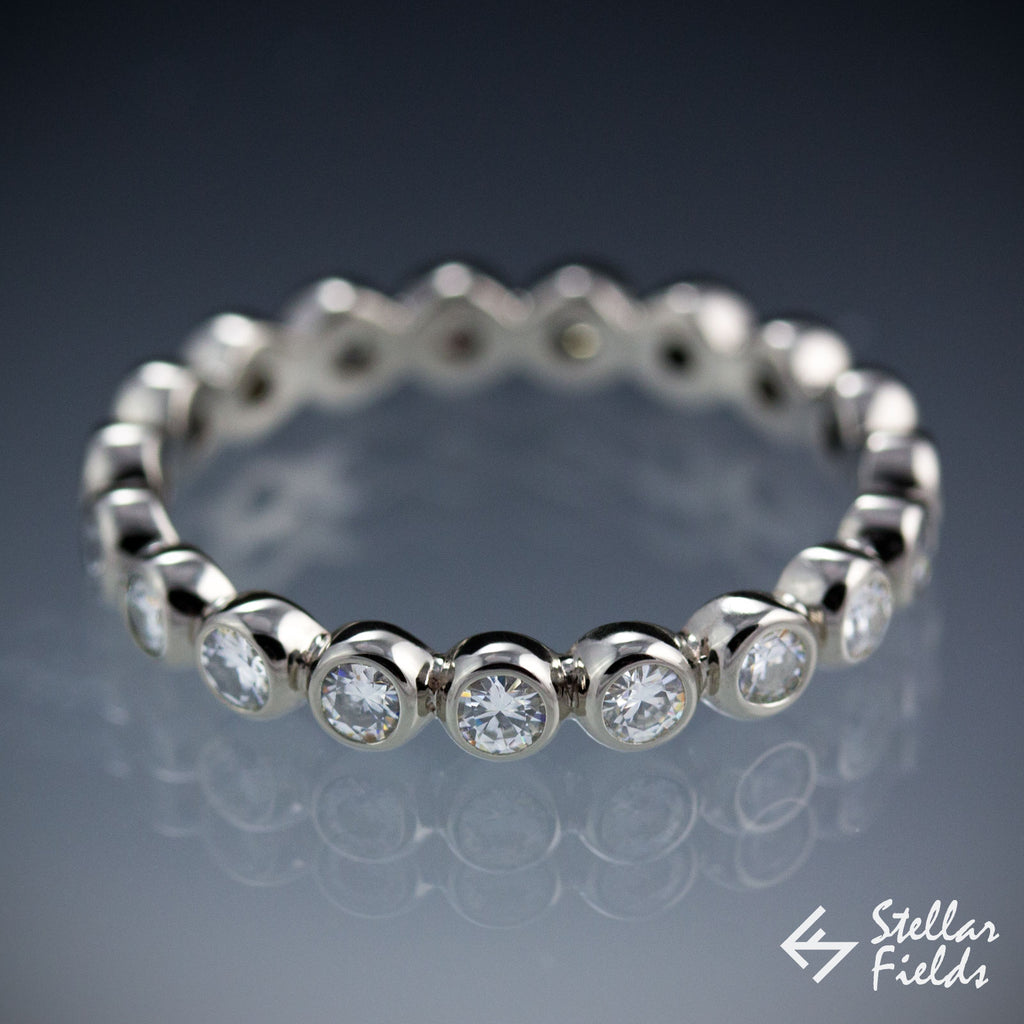diamond bezel jewelry playful bashert gold diamonds white or wedding set unique precious products band in eternity dot design grande round pattern polka platinum bands