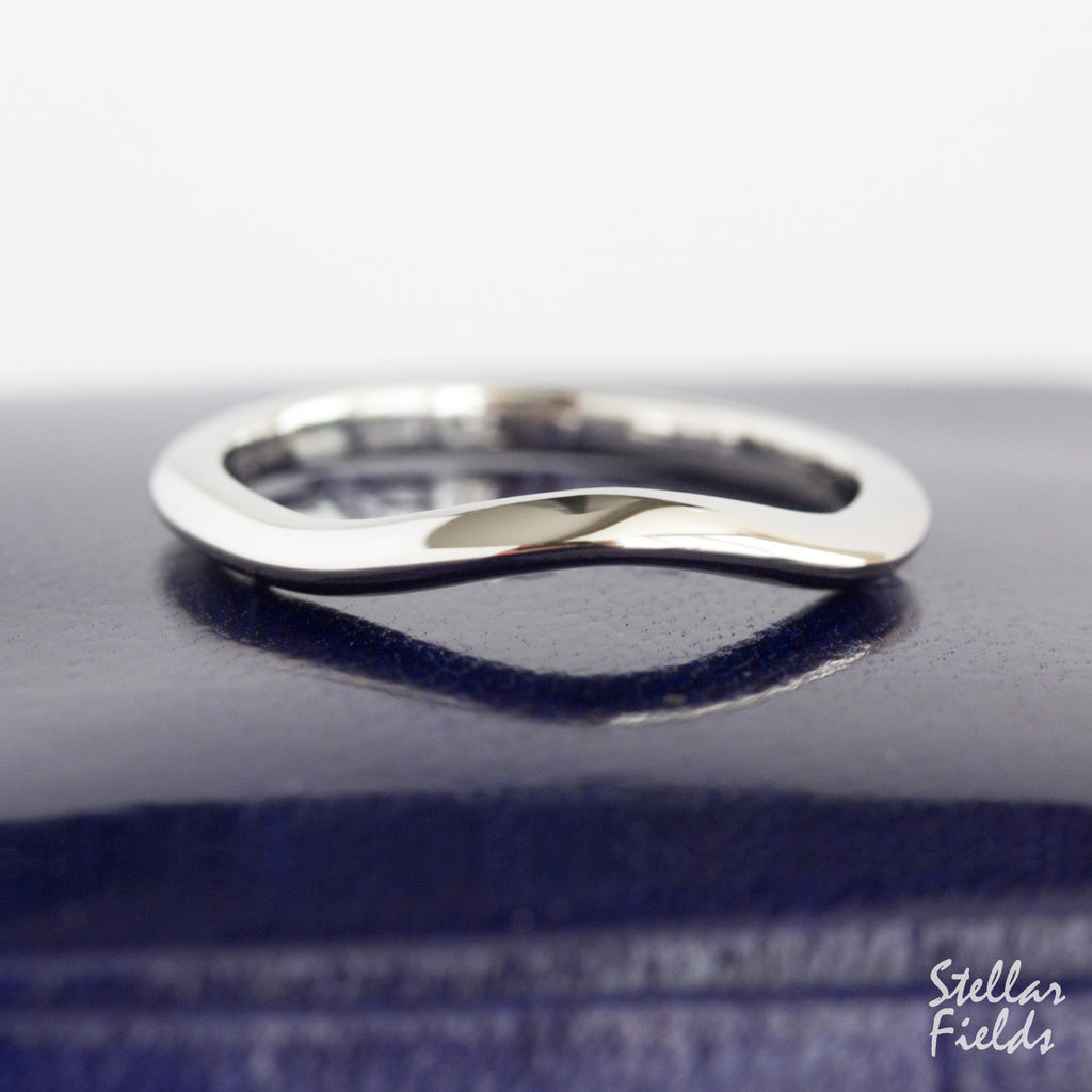 Contour Wedding Band Shadow Band Platinum Stellar Fields
