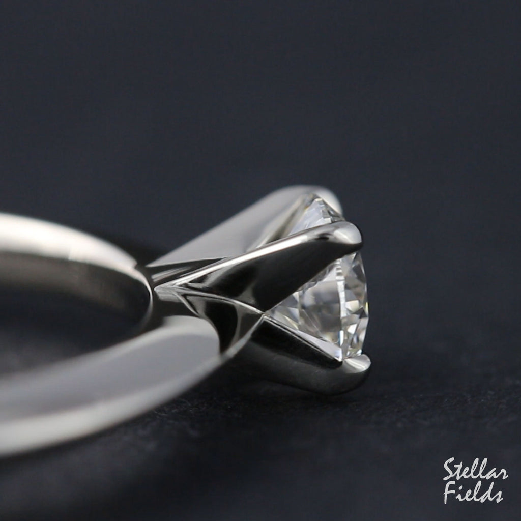 Custom Handmade Lab Diamond Engagement Ring Modern and Unique 14k Gold