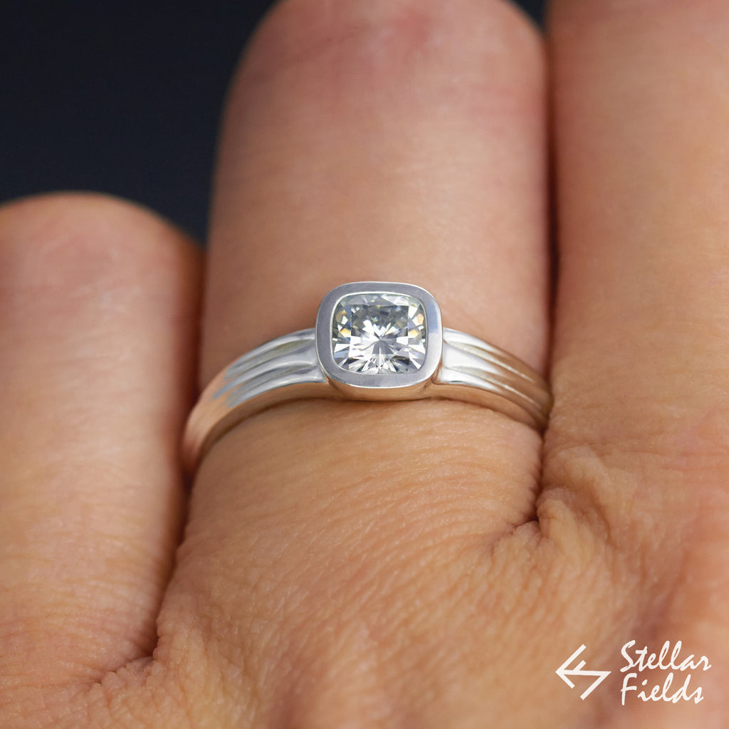 cut white products platinum set bezel cushion square gold fields stellar diamond engagement modern full h ring