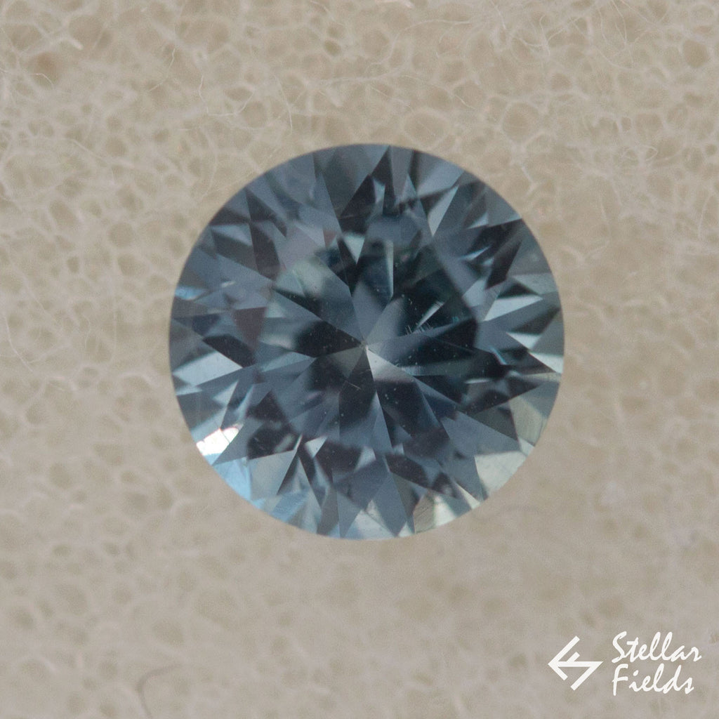 Fair Trade 5mm Round Montana Sapphire Stellar Fields Jewelry