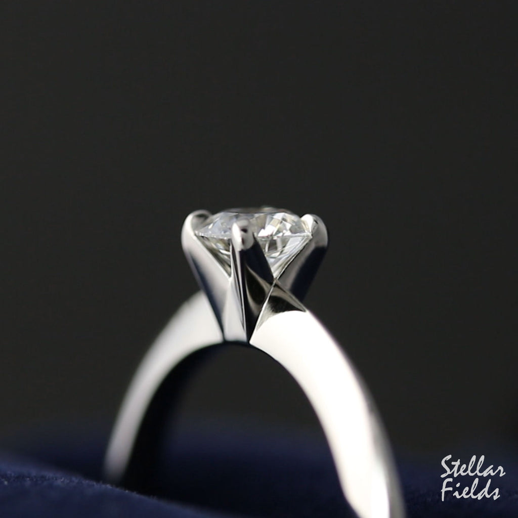 Modern Prong Engagement Ring Custom Made in Canada Stellar Fields