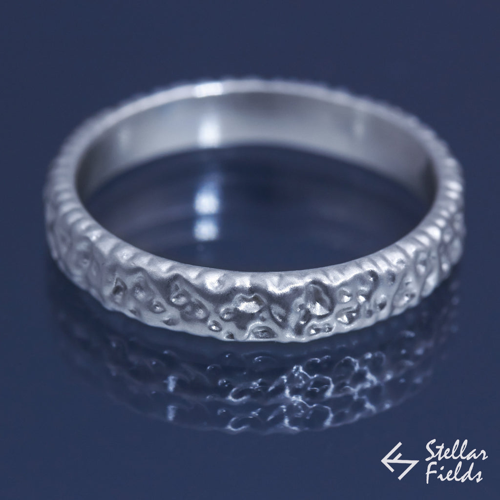 Modern Ripple Textured Wedding Ring Band - Stellar Fields