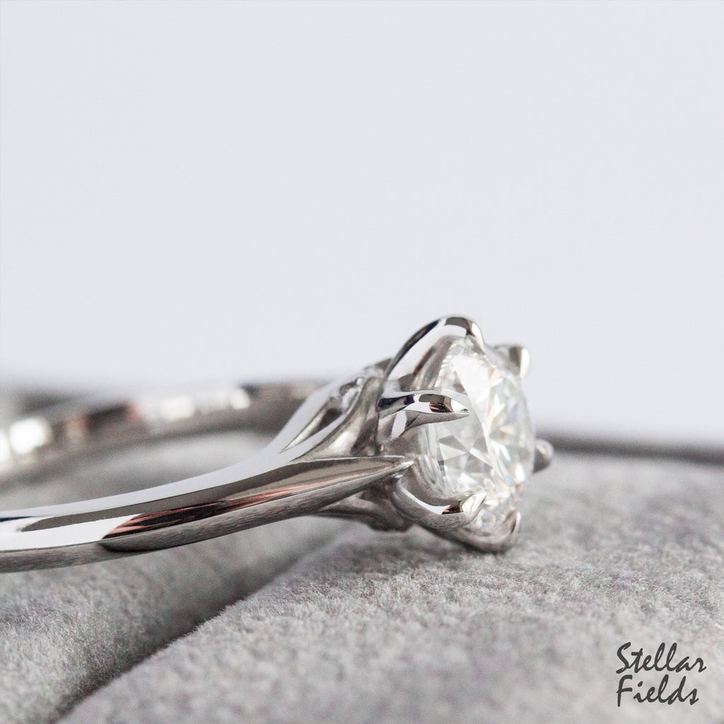 Sustainable Lab Diamond Solitaire Engagement Ring Platinum Stellar Fields