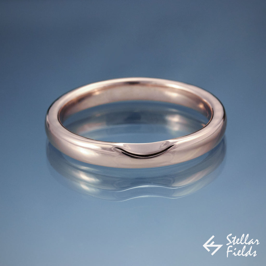 wedding set custom wedding band in 14k rose gold