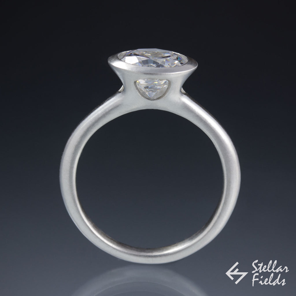 full bezel diamond engagement ring 2ct 8mm platinum stellar fields