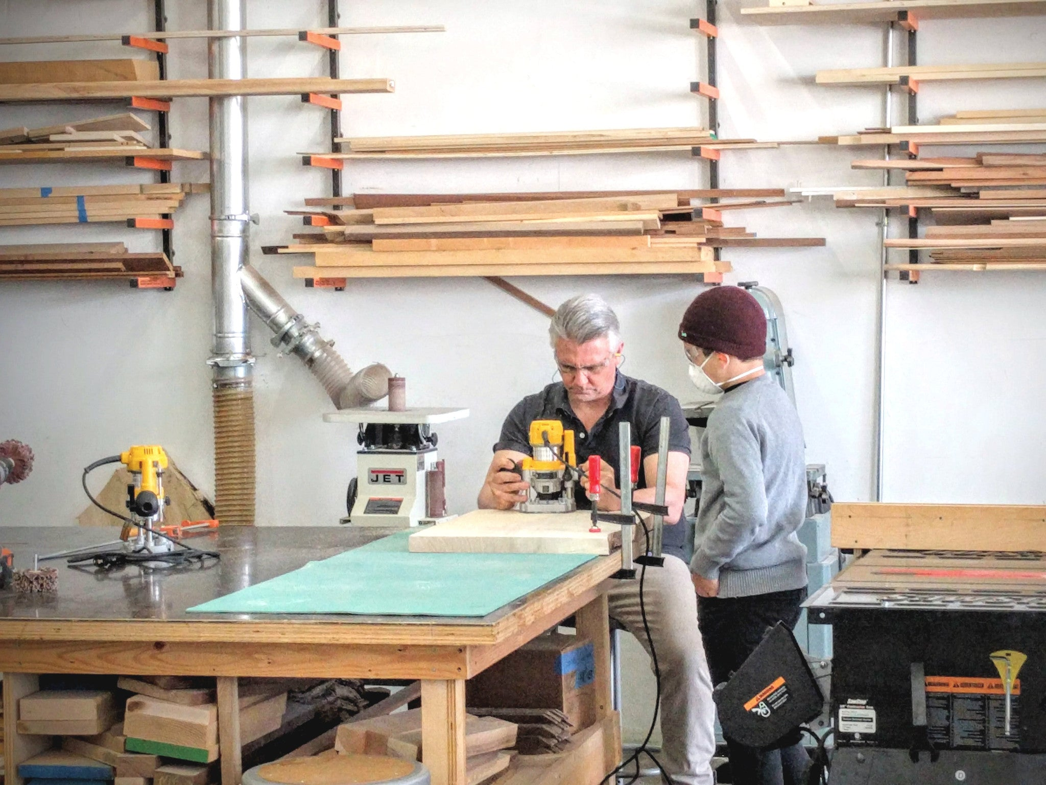 Intro to Routers Workshop and Class at Allied Woodshop, Los Angeles California