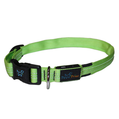 DFF Small / Green Paw Prime's Rechargeable LED Collar V2