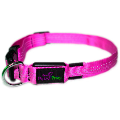 DFF Small / Pink Paw Prime's Rechargeable LED Collar V2