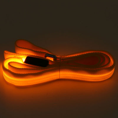 LED Leashes Orange Paw Prime's LED Dog Leash