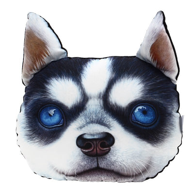 Paw Prime BABY HUSKY Dog Face Car Headrest Pillow