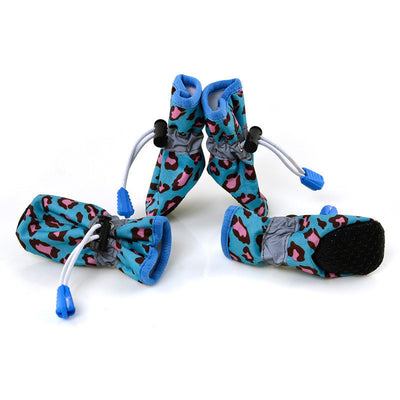 paw prime Blue / 2 Leopard Booties