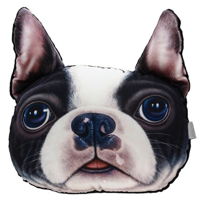 Paw Prime BOSTON TERRIER Dog Face Car Headrest Pillow