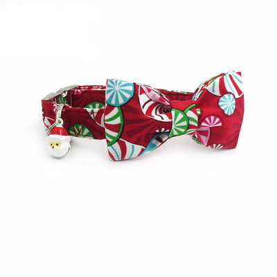 Paw Prime Candy Cane Bow / XS Winter Collar Collection