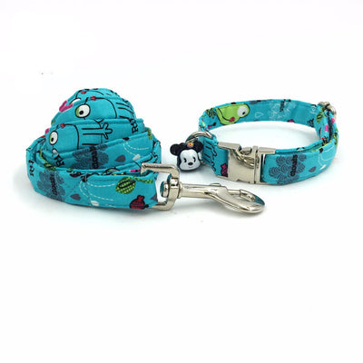 Paw Prime collar and leash / XS Frank the Frog