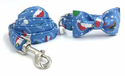 Paw Prime collar bow and leash / XS The Santa Hat