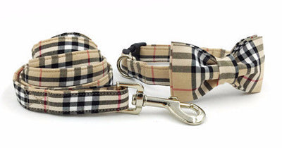Paw Prime collar bow leash / XS The Plaid Collection
