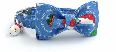 Paw Prime collar with bowtie / XS The Santa Hat