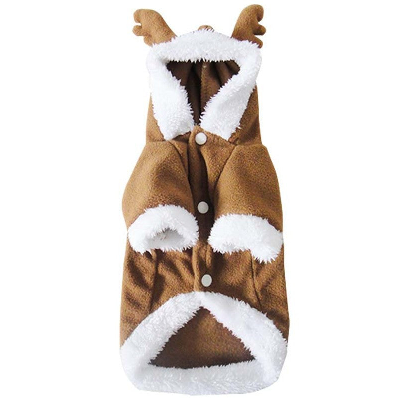 Paw Prime Dog Christmas Clothes Reindeer Costume Outwear Coat Apparel Hoodie