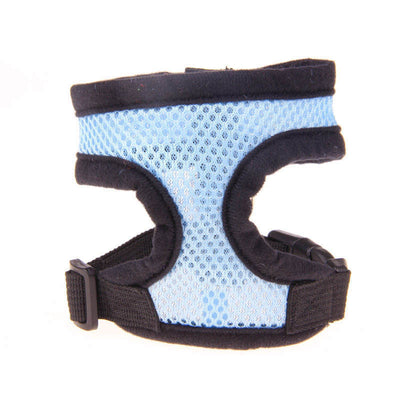 paw prime Light Blue-Black Edge / L Paw Prime's Harnesses