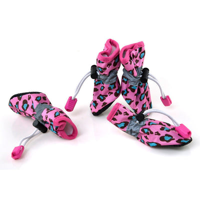 paw prime Pink / 2 Leopard Booties