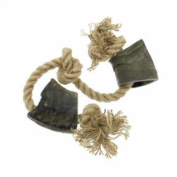 Pet Retail Bully Horns with Rope Dog Toy