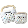 Pet Retail White Chewy Vuiton Purse Toy