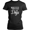 teelaunch T-shirt District Womens Shirt / Black / XS Obsessed with Dogs Women Crewneck T Shirt