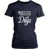 teelaunch T-shirt District Womens Shirt / Navy / XS Obsessed with Dogs Women Crewneck T Shirt