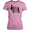 teelaunch T-shirt District Womens Shirt / Pink / XS Coffee Wifi and Dogs