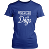 teelaunch T-shirt District Womens Shirt / Royal Blue / XS Obsessed with Dogs Women Crewneck T Shirt