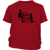 teelaunch T-shirt District Youth Shirt / Red / XS Coffee Wifi and Dogs
