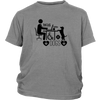 teelaunch T-shirt District Youth Shirt / Sport Grey / XS Coffee Wifi and Dogs